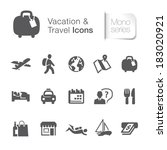vacation   travel related icons. | Shutterstock .eps vector #183020921