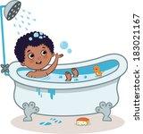 bath time | Shutterstock .eps vector #183021167