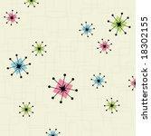 retro inspired star background. ... | Shutterstock .eps vector #18302155