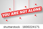 abstract 3d text you are not... | Shutterstock .eps vector #1830224171