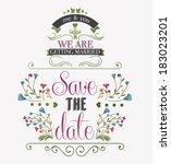 wedding invitation  | Shutterstock .eps vector #183023201