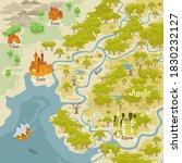 map builder illusrations for... | Shutterstock .eps vector #1830232127
