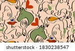abstract one line drawing mix... | Shutterstock .eps vector #1830238547