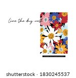 modern daisy print design ... | Shutterstock .eps vector #1830245537