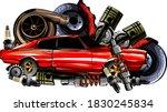 vector vintage badges   ... | Shutterstock .eps vector #1830245834