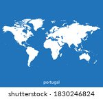 vector map of the portugal | Shutterstock .eps vector #1830246824