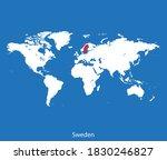 vector map of the sweden | Shutterstock .eps vector #1830246827