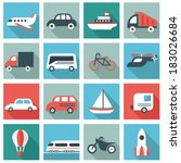 transport icons | Shutterstock .eps vector #183026684