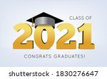 graduation class of 2021 with... | Shutterstock .eps vector #1830276647