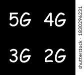 5g  4g  3g  2g vector symbol...