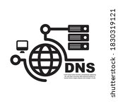 dns icon isolated on white...   Shutterstock .eps vector #1830319121