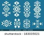native american   azted vector...   Shutterstock .eps vector #183035021
