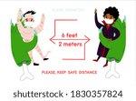 coronavirus new social... | Shutterstock .eps vector #1830357824