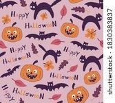 happy halloween funny vector... | Shutterstock .eps vector #1830383837