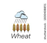 wheat hand draw icon. element...