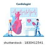 cardiologist concept. idea of... | Shutterstock .eps vector #1830412541