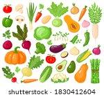 cartoon vegetables. vegan... | Shutterstock . vector #1830412604