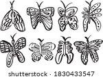 8 hand drawn decorative... | Shutterstock .eps vector #1830433547