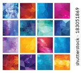abstract geometric backgrounds. ... | Shutterstock .eps vector #183051869