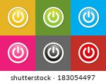 the set of circle buttons with...   Shutterstock .eps vector #183054497