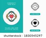 community icons set vector...