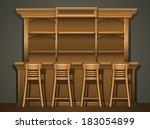 bar counter   Shutterstock .eps vector #183054899