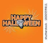 illustration of happy hallowen... | Shutterstock .eps vector #1830559811