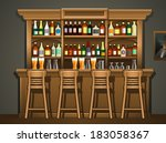 bar counter | Shutterstock .eps vector #183058367