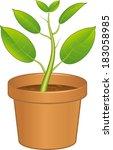 pot plant | Shutterstock .eps vector #183058985