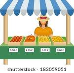 market place | Shutterstock .eps vector #183059051