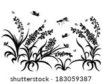 spring  summer background. ... | Shutterstock . vector #183059387