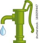 water pump | Shutterstock .eps vector #183059447