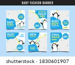 baby fashion sale banner for...   Shutterstock .eps vector #1830601907