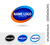 oval graphic logos templates.... | Shutterstock .eps vector #1830606341