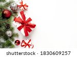 christmas composition on a... | Shutterstock . vector #1830609257