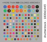 more than 100 colored arrows  ...