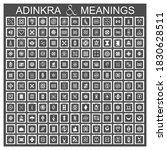 african adinkra symbols with... | Shutterstock .eps vector #1830628511