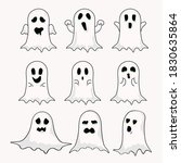 halloween ghost collection in...   Shutterstock .eps vector #1830635864