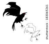 wild crow | Shutterstock .eps vector #183065261