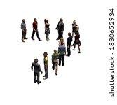 people   arranged in number 7   ...   Shutterstock . vector #1830652934