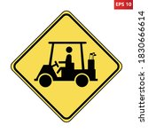 Golf Cart Crossing Warning Roa...