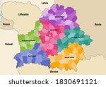 vector map of belarus regions...   Shutterstock .eps vector #1830691121