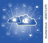 cloud computing concept with...   Shutterstock . vector #183071195