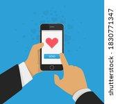 sending love message concept....   Shutterstock . vector #1830771347