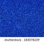 Small photo of Decorative flicker bright blue background of chaotic sprinkling volume alphanumeric characters