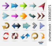 icons set arrows | Shutterstock .eps vector #183081071