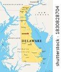 delaware  de  political map.... | Shutterstock .eps vector #1830828704