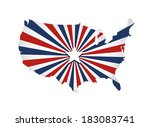 vector united states map.... | Shutterstock .eps vector #183083741