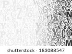 vector gray alphabet background ... | Shutterstock .eps vector #183088547