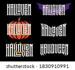 halloveen lettering with... | Shutterstock .eps vector #1830910991